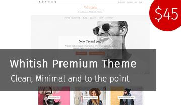 Whitish Premium Minimal, Clean WordPress theme