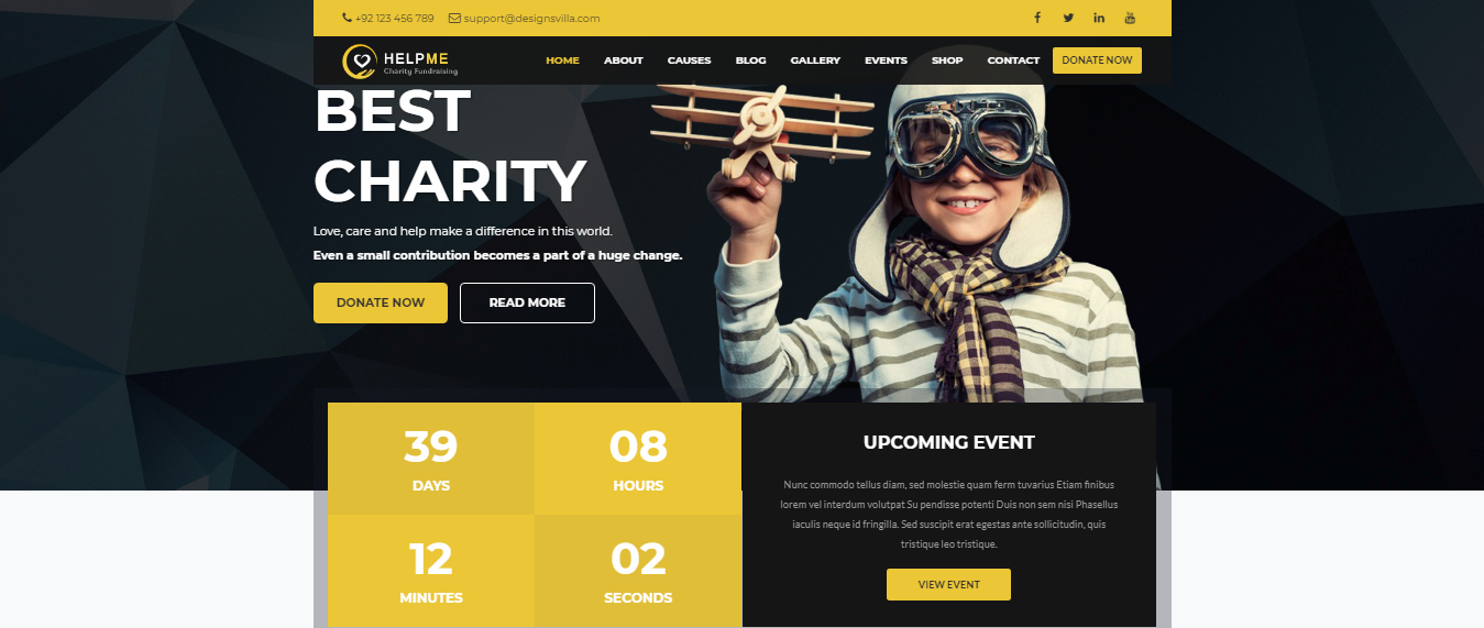 HelpMe, HelpMe Premium Non-profit WordPress themes, Best Non-profit WordPress themes of 2018