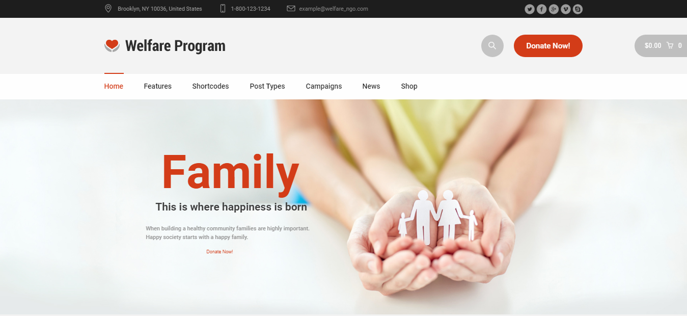 Welfare, Welfare Premium Non-profit WordPress theme, Best Non-profit WordPress theme of 2018