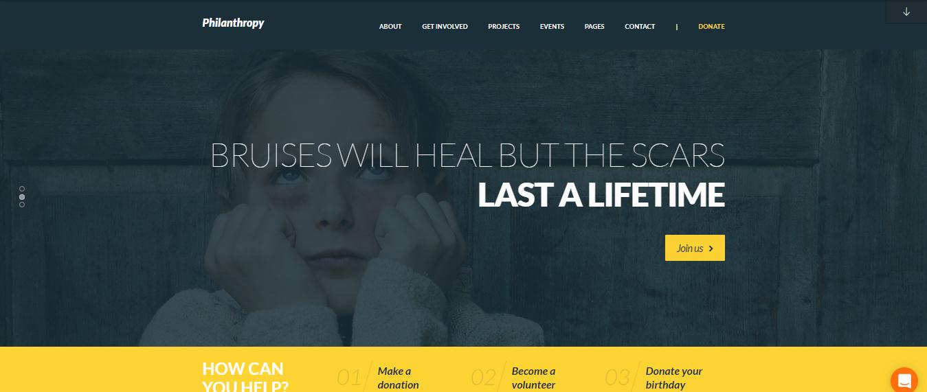 Philanthropy, Philanthropy Non-profit WordPress theme, Best Non-profit WordPress themes of 2018,
