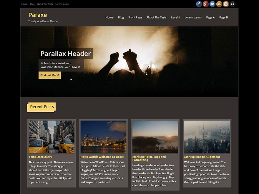 Paraxe, free WordPress Directory Themes