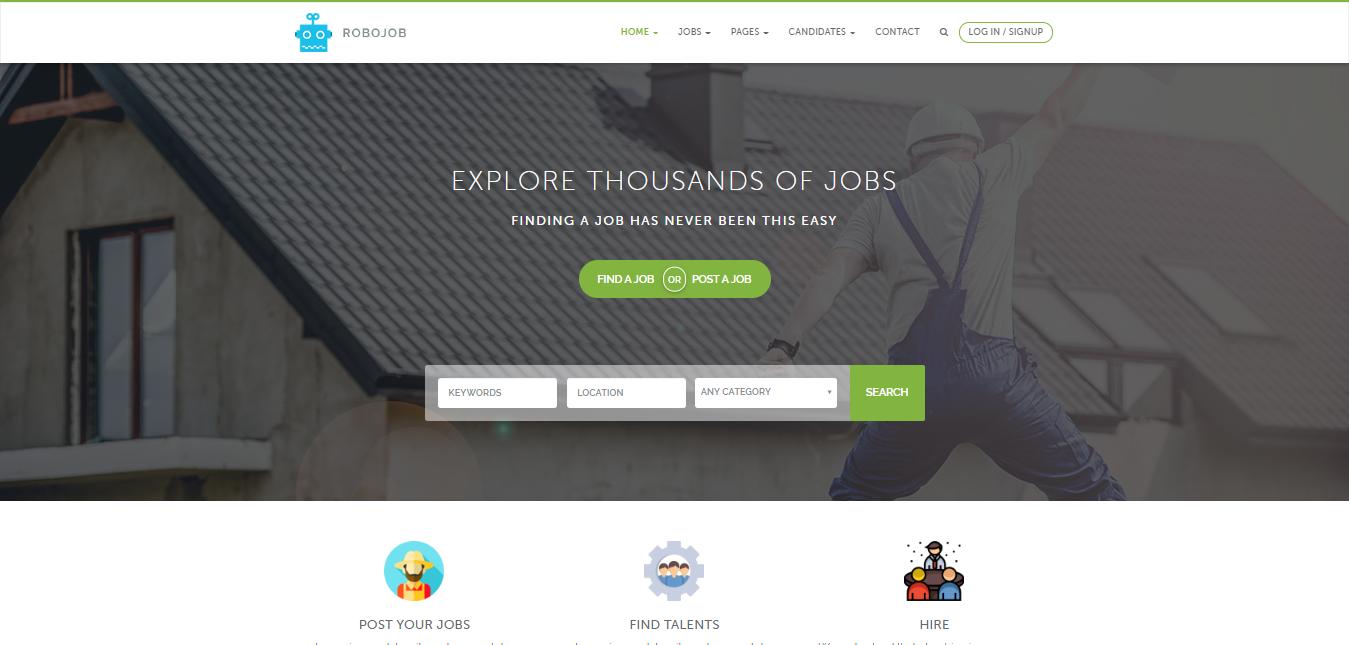 RoboJob, free WordPress Directory Themes