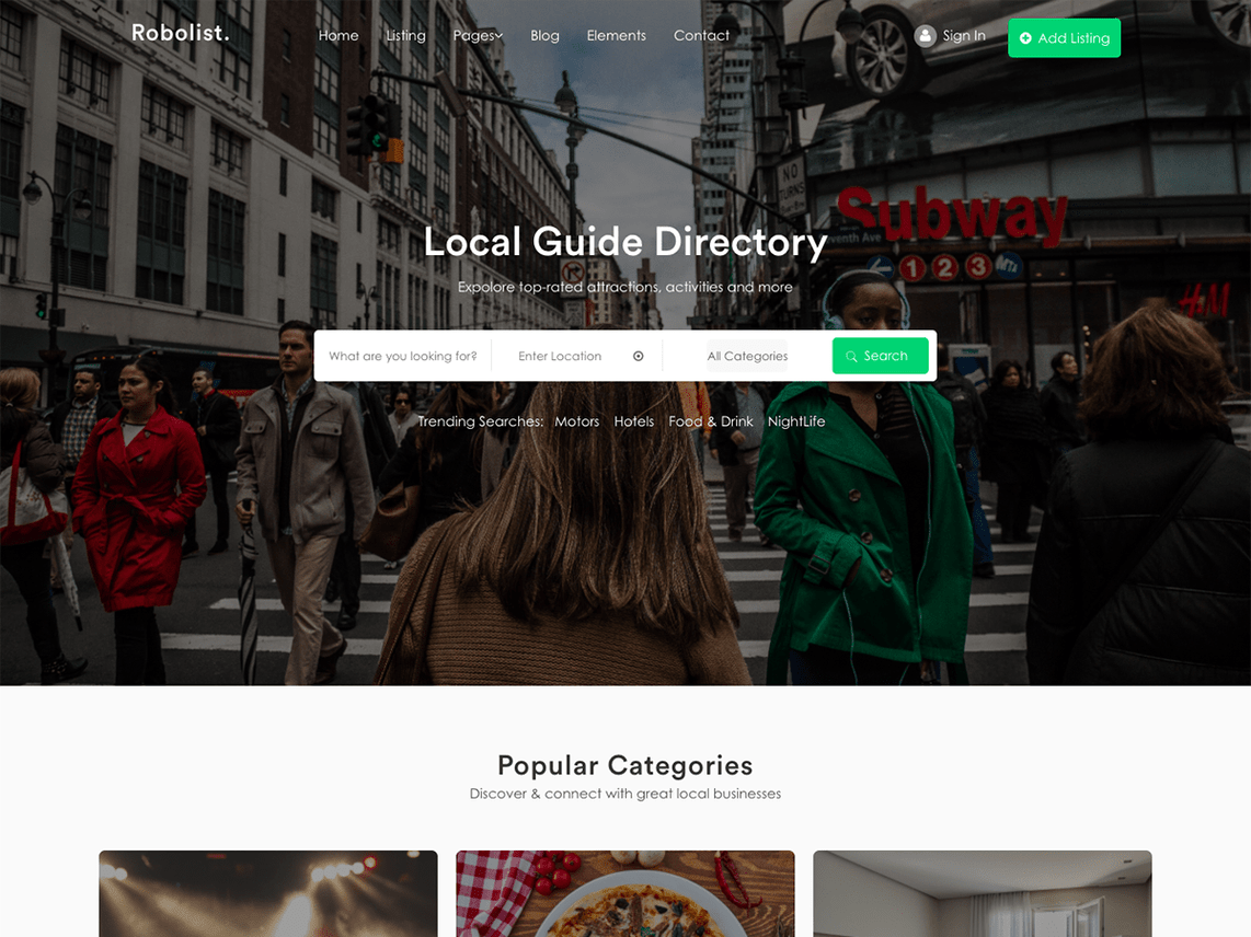 Robolist, free WordPress Directory Themes
