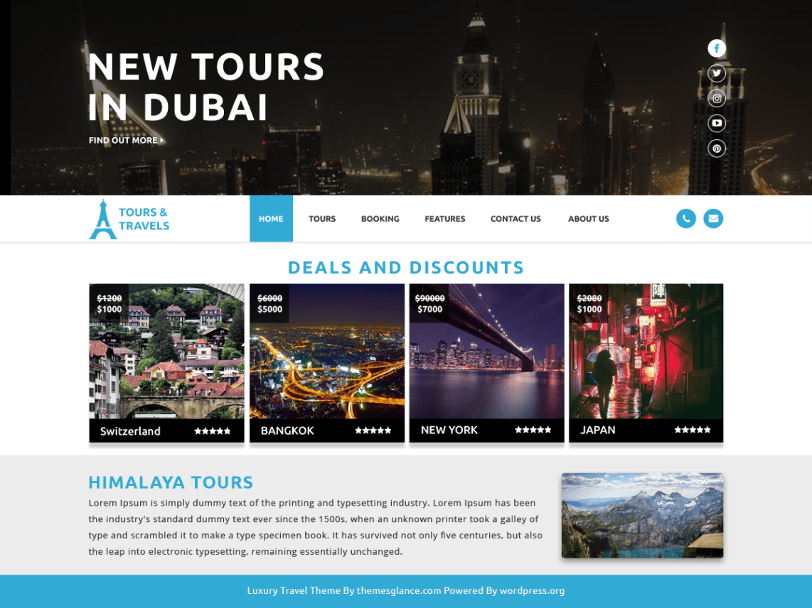 LuxaryTravel-Best-Free-Responsive-Travel-WordPress-Themes-CodePixelz
