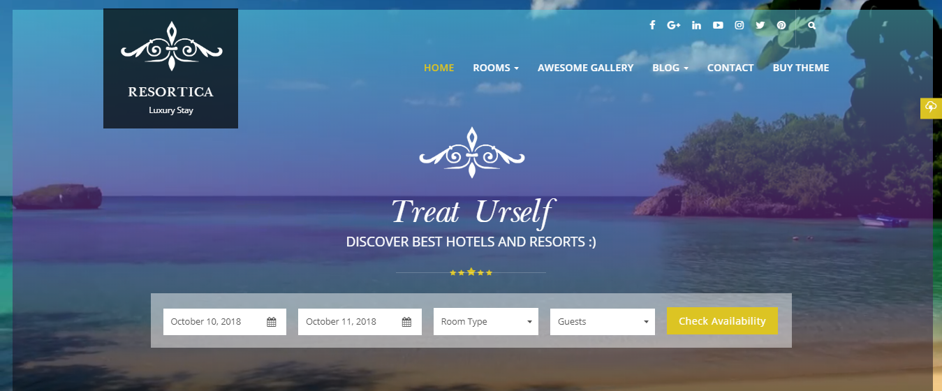 Best premium WordPress themes for hotels resorts