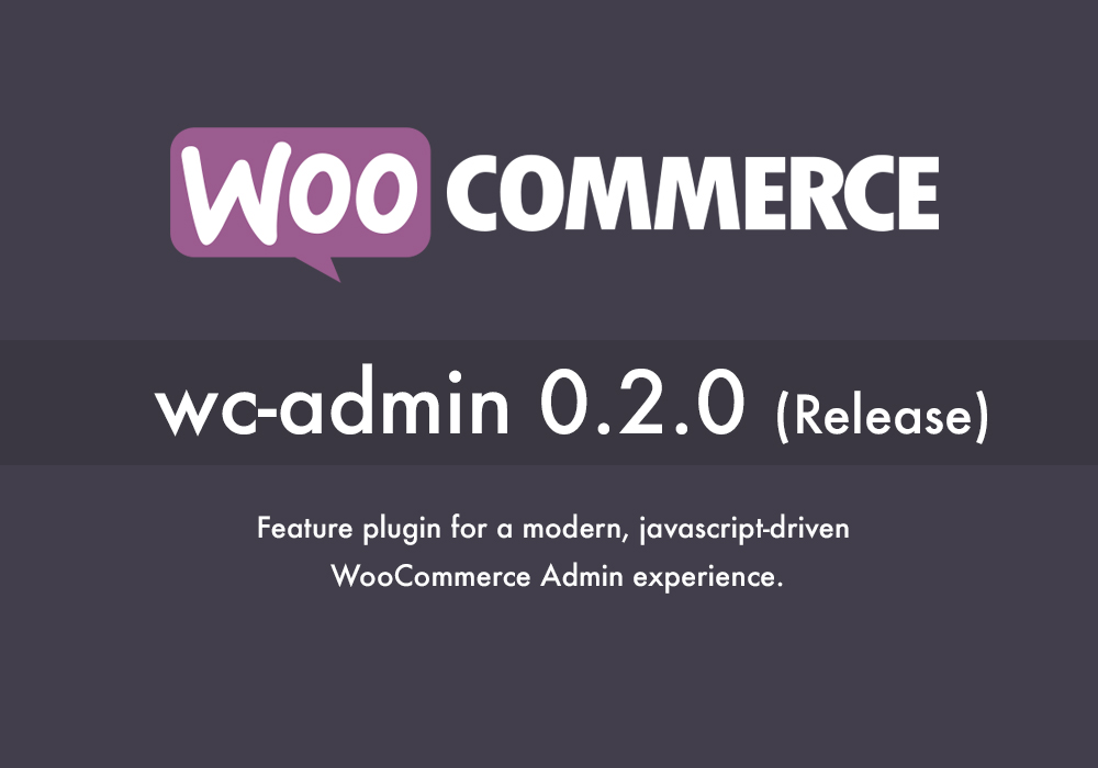 wc-admin, WooCommerce DashBoard