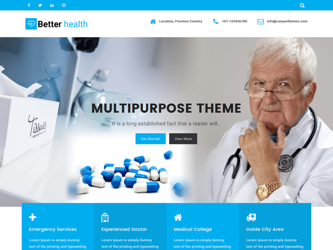 Free medical WordPress themes