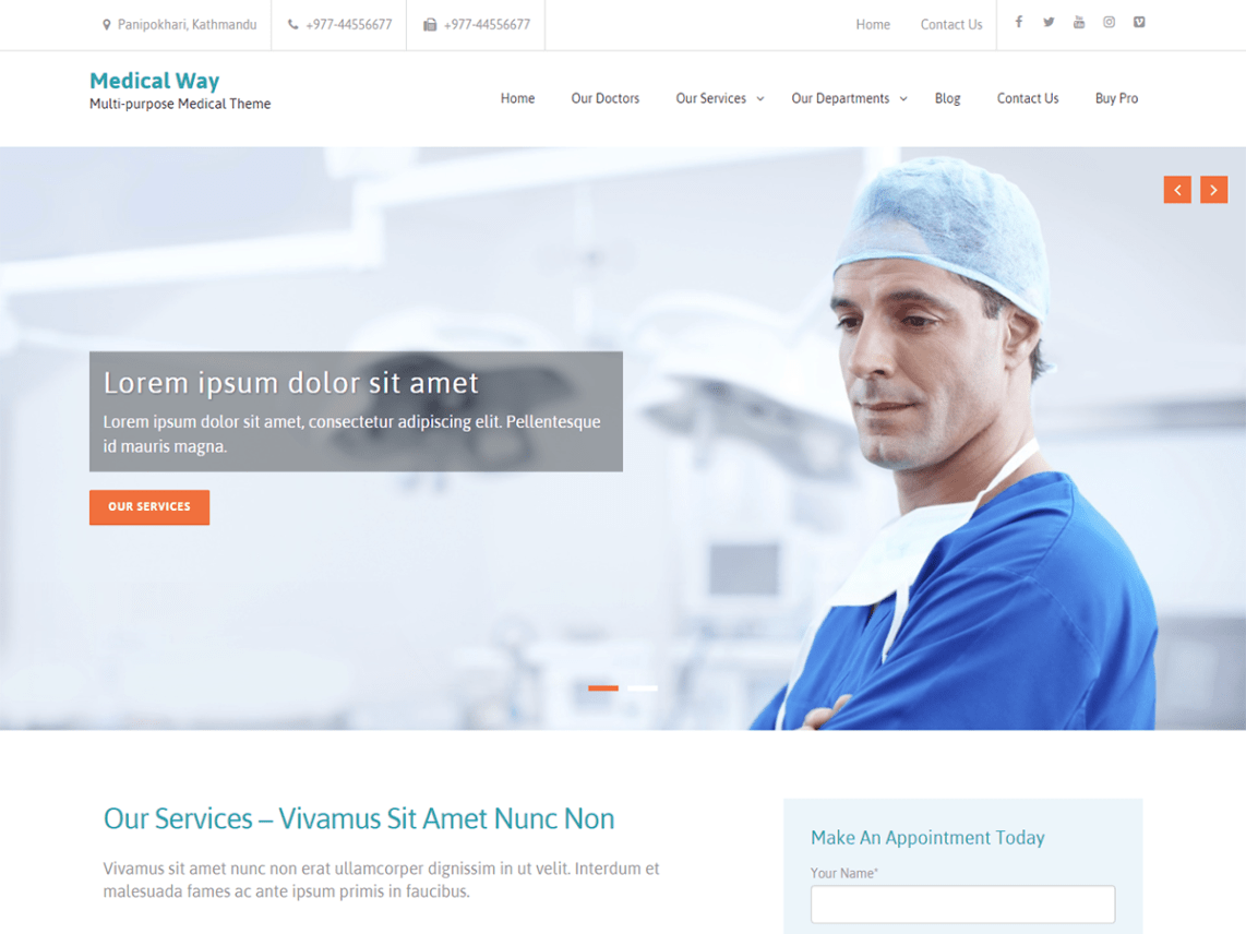 Free medical WordPress themes, Medical Way