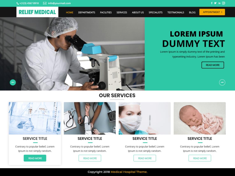 Free medical WordPress themes