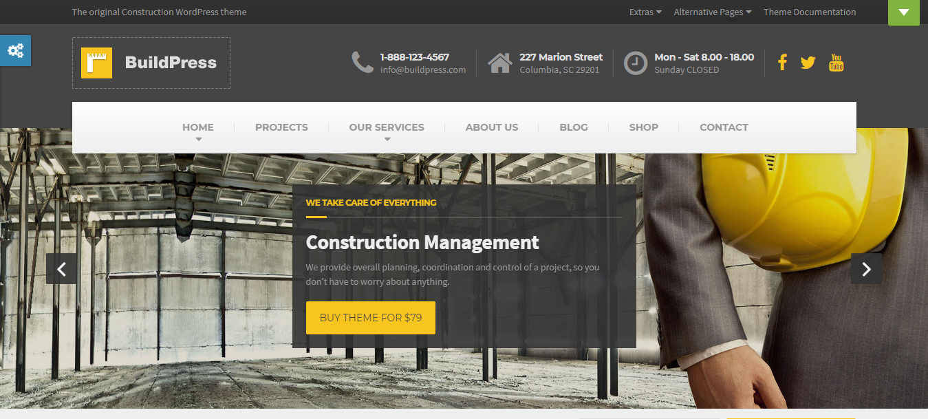 BuildPress, construction companies WordPress themes