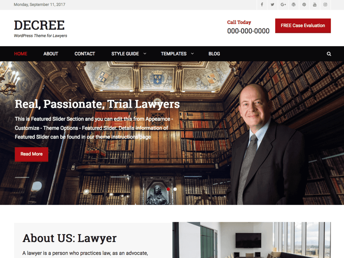 free lawyer WordPress themes,, Decree