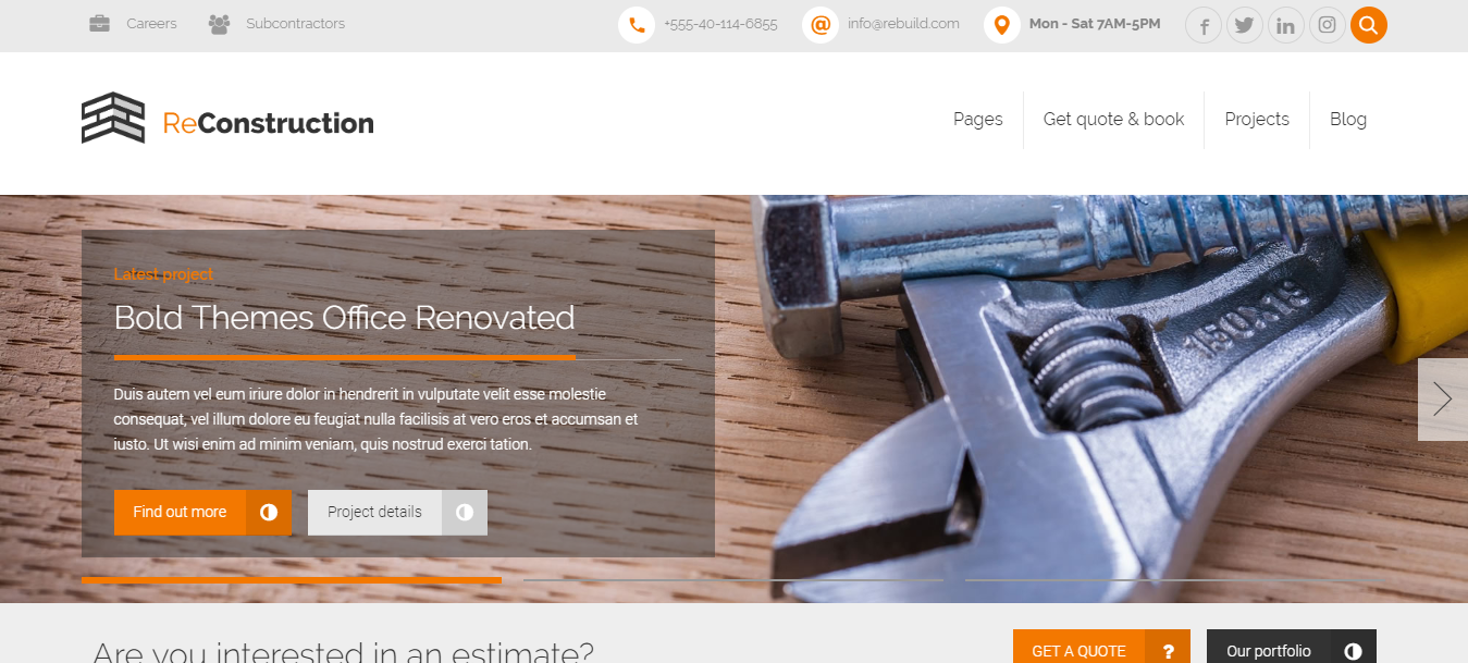 premium-construction-companies-WordPress-themes-ReConstruction-WPreviewteam