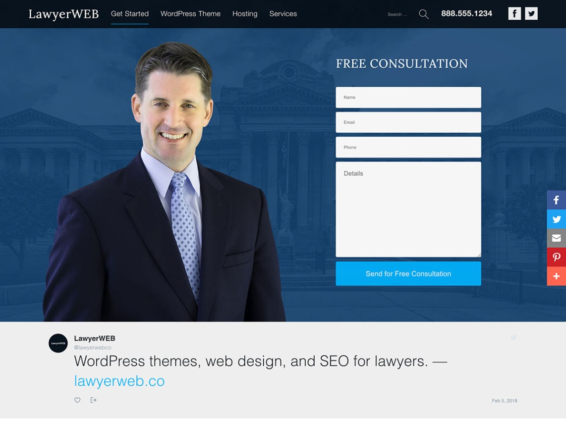 free lawyer WordPress themes, Lawyer WP