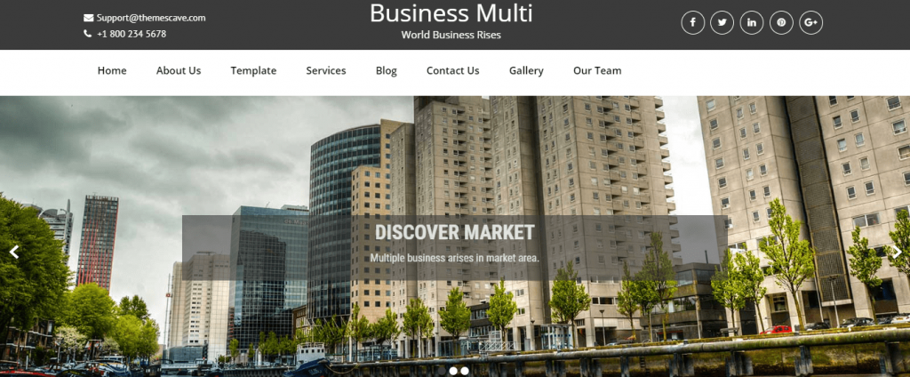 Free WordPress themes for Business, Business Multi Lite