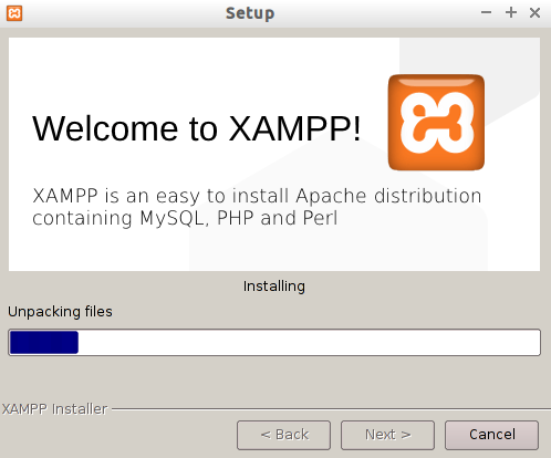 XAMPP setup, Localhost WordPress installation