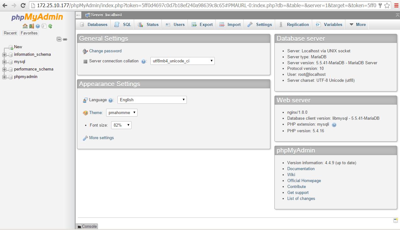 WordPress localhost database setup