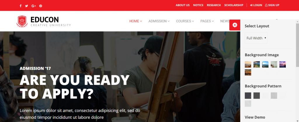 Educon-premium-education-WordPress-theme, Code Pixelz Media