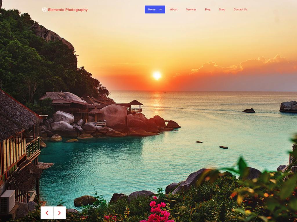 free WordPress theme for photography, Elemento photography