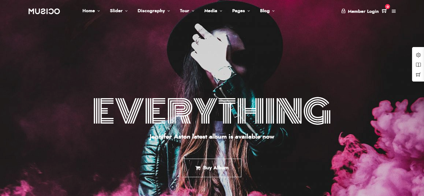 best music WordPress themes for musicians, bands, singer and song writer