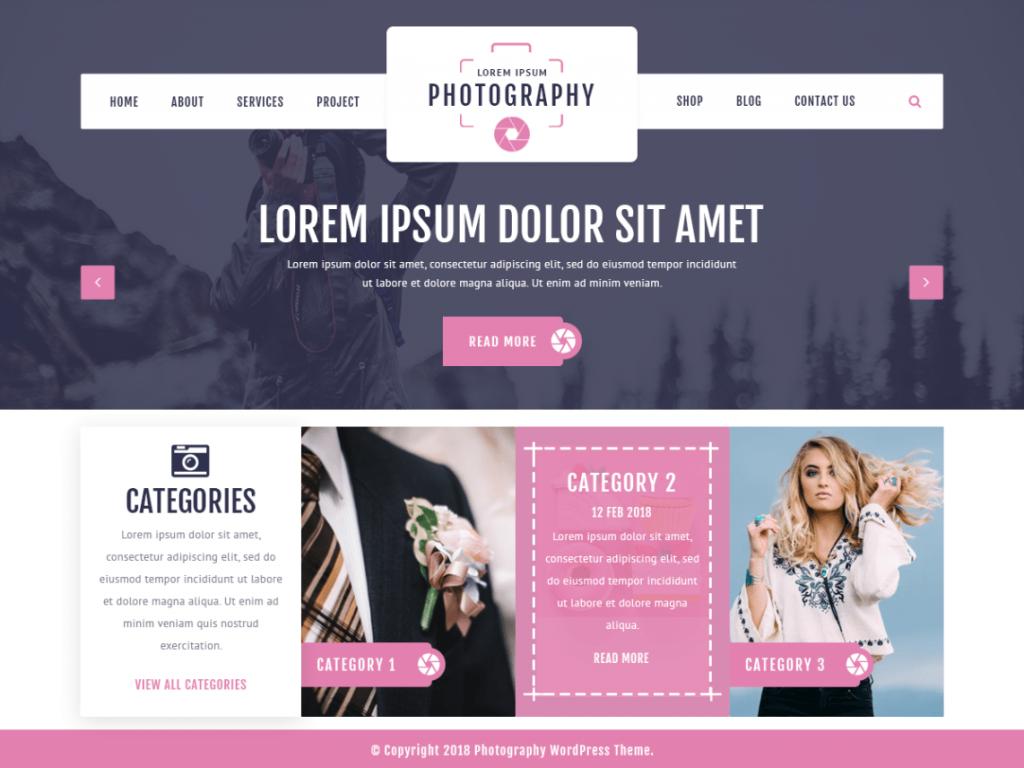 free photography WordPress themes
