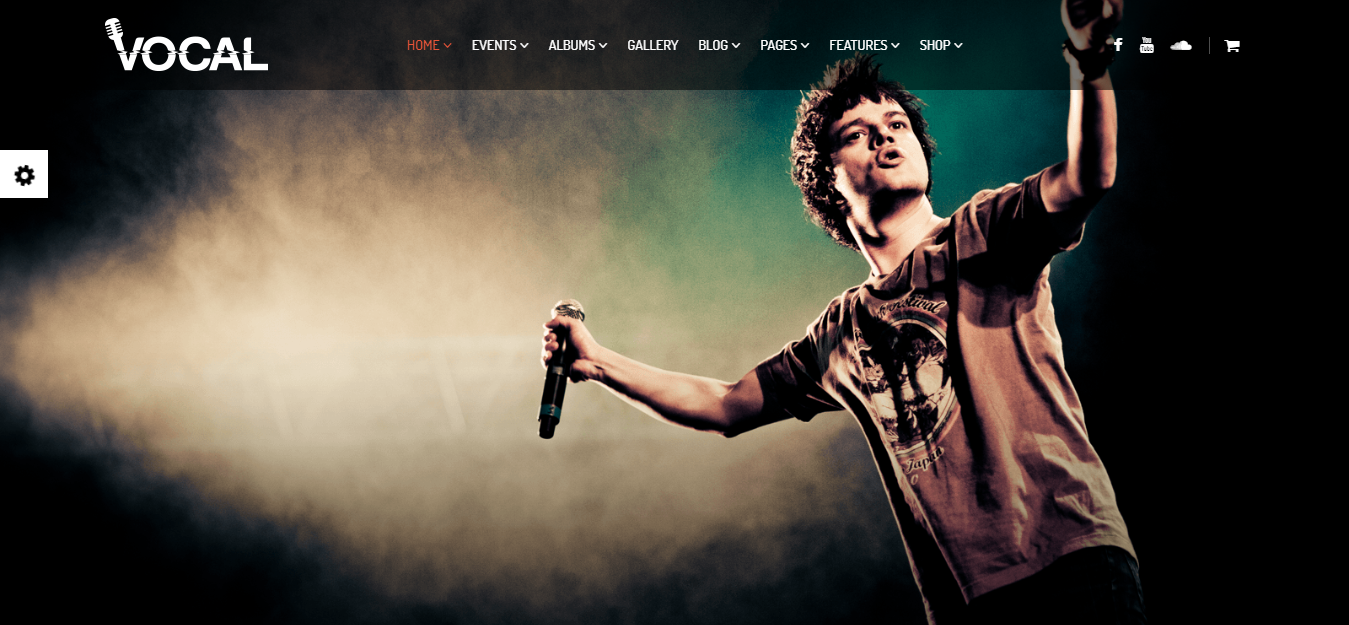 Vocal, best music WordPress themes for musicians, bands, singer and song writer