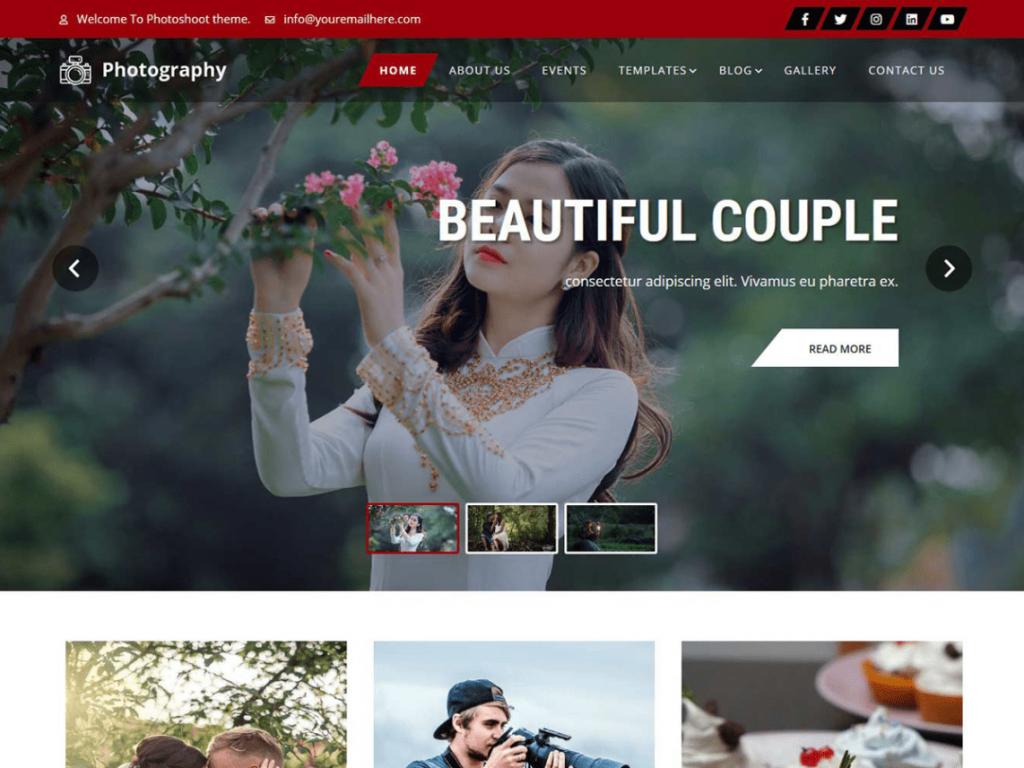 free WordPress photography theme