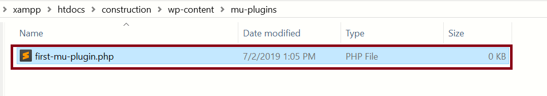Must Use (MU) Plugin, WordPress