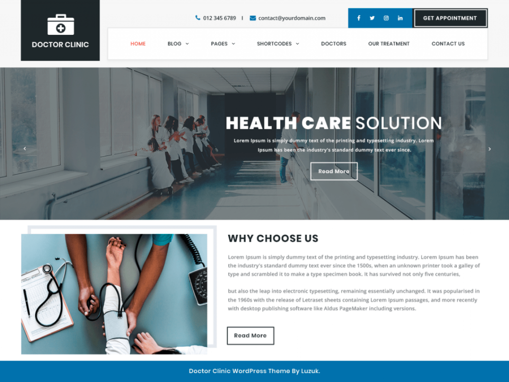 DoctorClinic-best-free-medical-health-wellness-WordPress-theme-CodePixelz