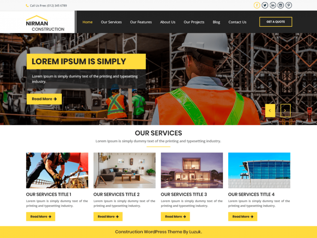 Nirman-Construction-free-WordPress-responsive-business-theme-Code-Pixelz