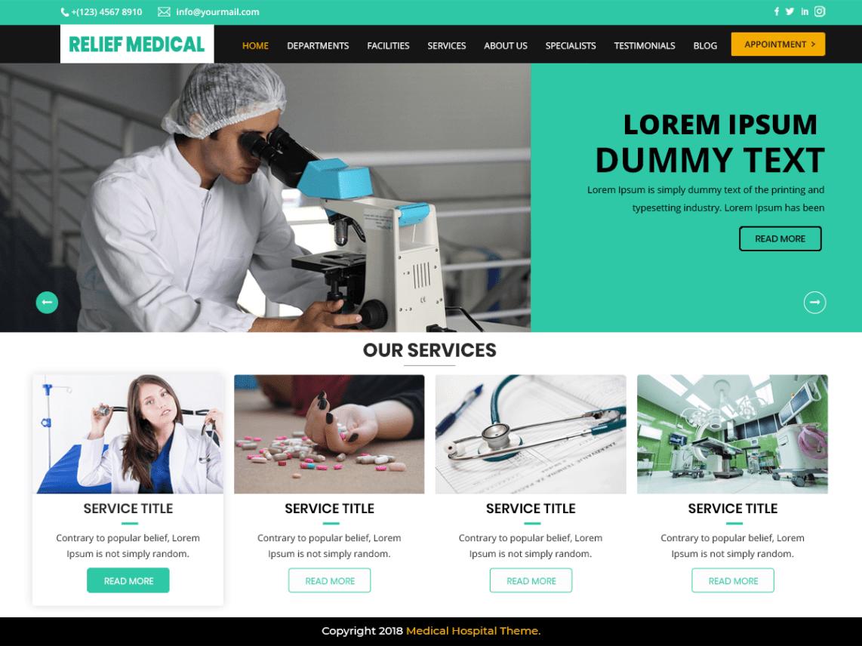 20 Best Free Medical WordPress themes(Updated) - Code Pixelz