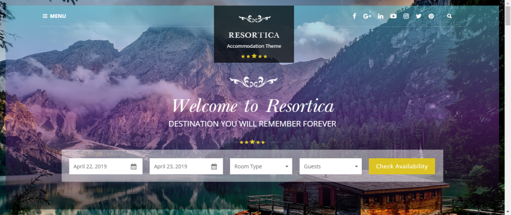 Resortica-free-hotel-business-WordPress-theme-Code-Pixelz