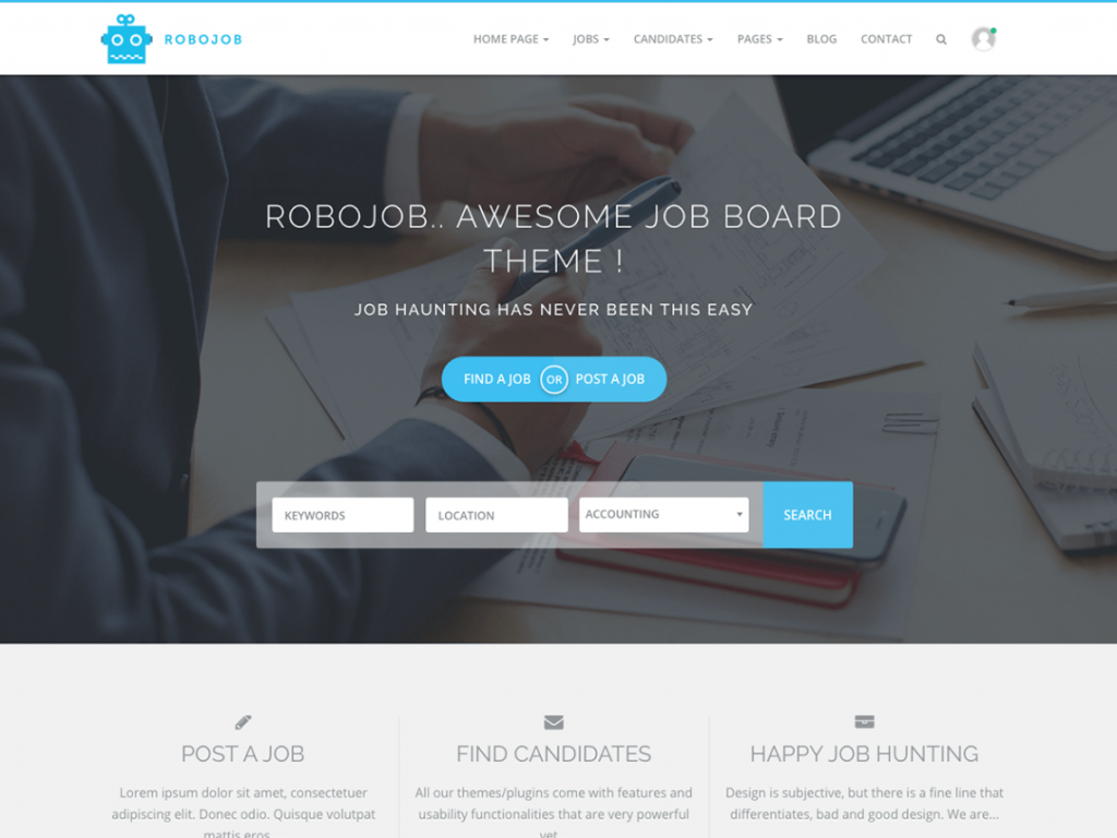 RoboJob-most-popular-free-job-board-WordPress-themes-CodePixelz