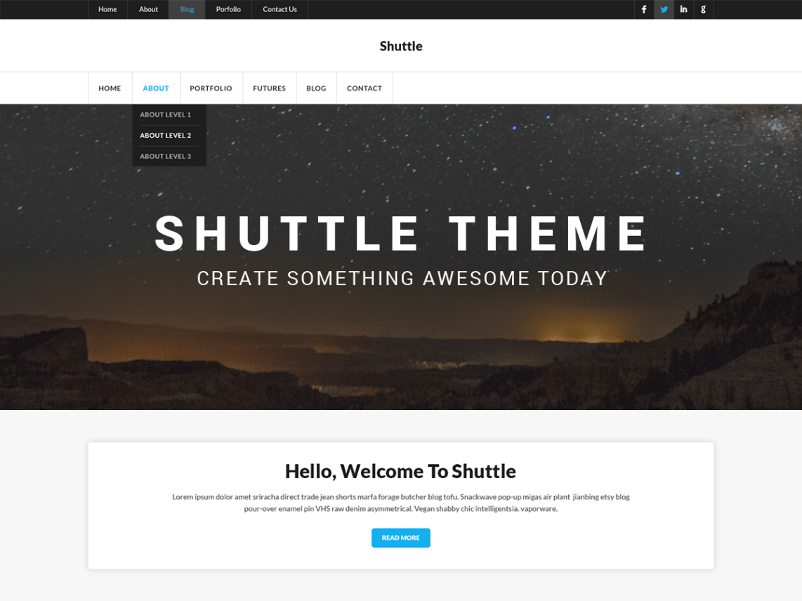 Shuttle iCorporate-free-corporate-responsive-business-WordPress-theme-Code-Pixelz