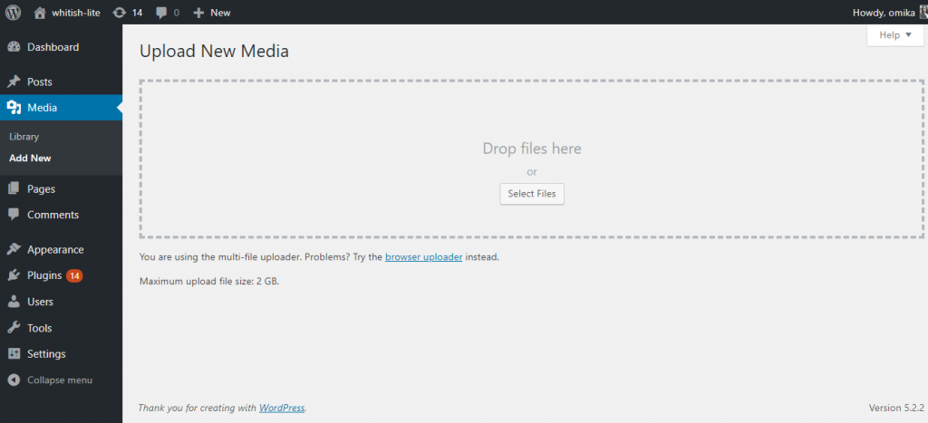 WordPress-Dashboard-Upload-New-Image-Media-Library-Code- Pixelz