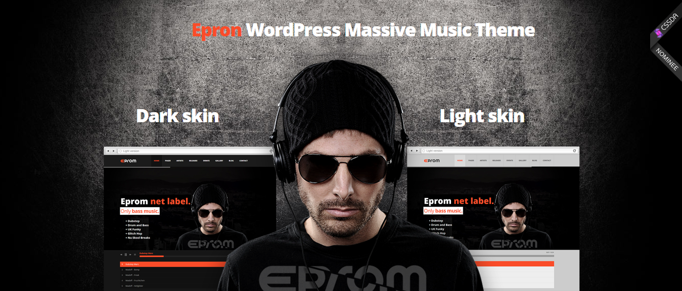 Epron-premium-music-WordPress-theme-musicians-Yudlee