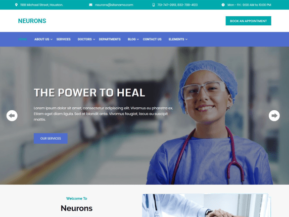 Neurons-free-medical-WordPress-WordPress-themes-CodePixelz