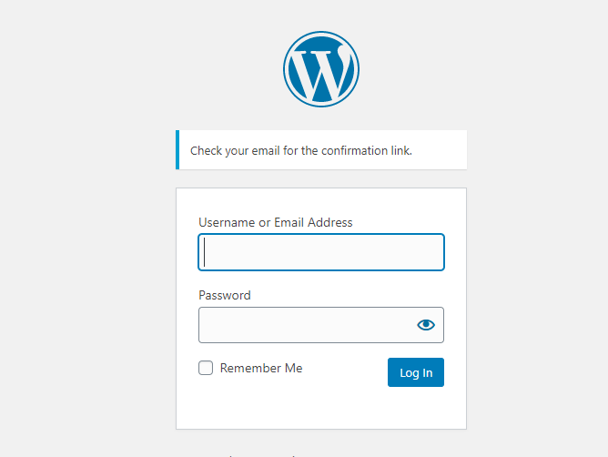 Confrimationlink-page-lost-password-in-WordPress-CodePixelz