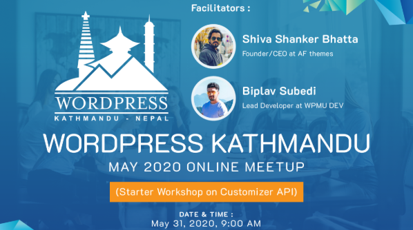 WordPress-Kathmandu-May-2020-Online-Meetup-Meetup-WorkShop-details-CodePixelz