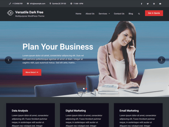 VersatileBusinessDark-free-best-business-WordPress-theme-CodePixelz
